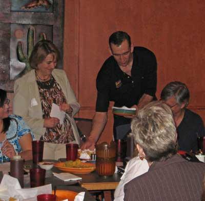 Kachina Chapter Meeting, February 25, 2009 - Sheina and waiter